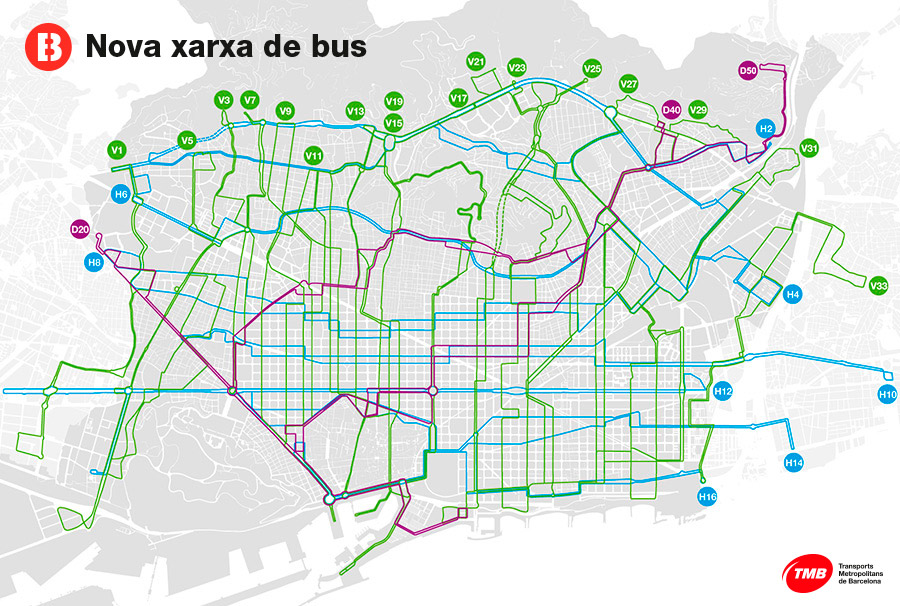 What is the new bus network | Transports Metropolitans de Barcelona